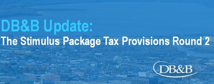The Stimulus Package Tax Provisions Round 2
