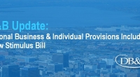 Additional Business and Individual Provisions Included in New Stimulus Bill